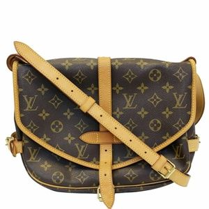 LOUIS VUITTON Saumur 30 Shoulder Bag Brown